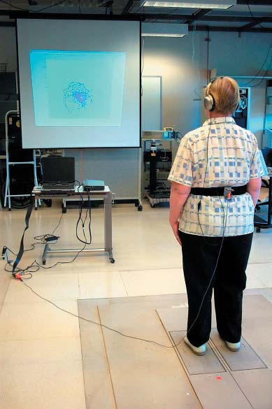 Chapter 1 Augmentation of Sensory Information for Postural Control Photo: A subjects using audio- and visualbiofeedback at the Balance Disorders Laboratory of the Oregon Health & Science University,