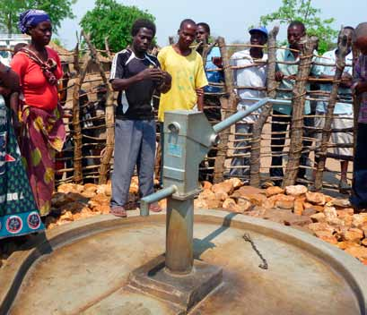 Borehole fitted with handpump 50 Secondly, the One Million Initiative puts strong emphasis on private sector involvement.