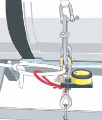 Tension on weak link will cause it to break, ensuring liferaft does not go down with the boat Correct