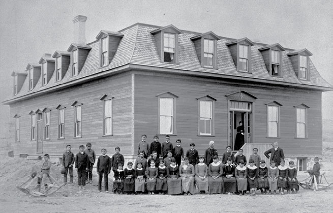 To Christianize and Civilize: Canada s Residential Schools 11 The federal government supported not only the large industrial schools, but also smaller boarding schools, such as this Methodist school