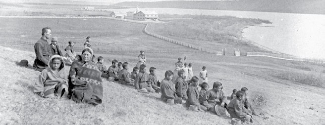 To Christianize and Civilize: Canada s Residential Schools 13 Qu Appelle school principal Father Joseph Hugonnard, staff, Grey Nuns, students, and parents in 1884, the year the school opened. O.B.