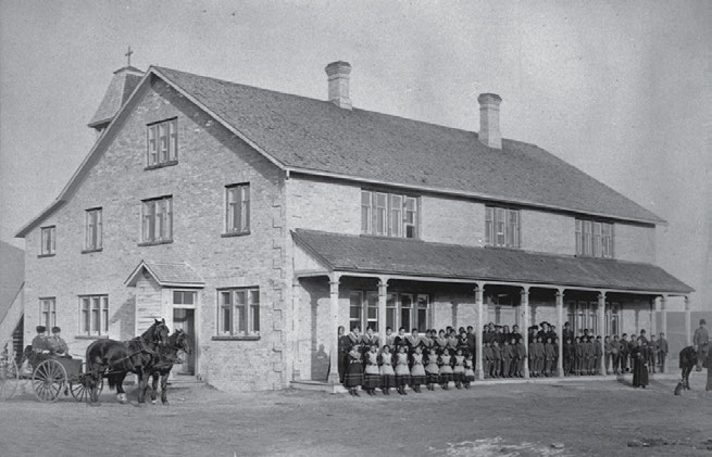 To Christianize and Civilize: Canada s Residential Schools 15 In 1893 the federal government cut its funding for the High River school (pictured here in 1896) from $185.
