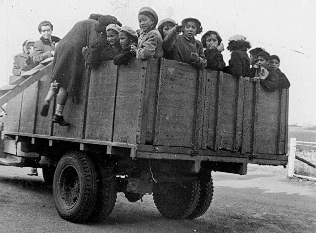21 Chapter Two School Days: The Residential School Experience Girls at the Gordon s school in Saskatchewan being transported to church by truck in 1953.