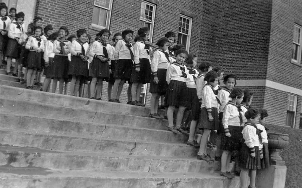School Days: The Residential School Experience 23 Girls at the Shingwauk school in Sault Ste. Marie, dressed for church in 1941.