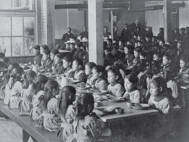 School Days: The Residential School Experience 31 The Qu Appelle, Saskatchewan, school dining room in 1900.