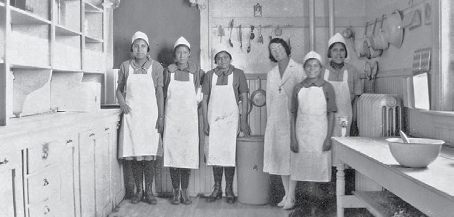 34 Truth & Reconciliation Commission The Elkhorn, Manitoba, school kitchen staff in the 1930s. The General Synod Archives, Anglican Church of Canada, P7538 (902).
