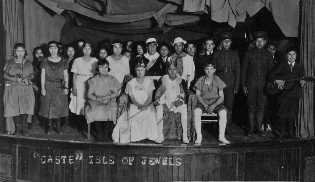 School Days: The Residential School Experience 49 The student cast of the play Isle of Jewels at the Coqualeetza, British Columbia, school. The United Church of Canada Archives, 93.049P424N. (19--?