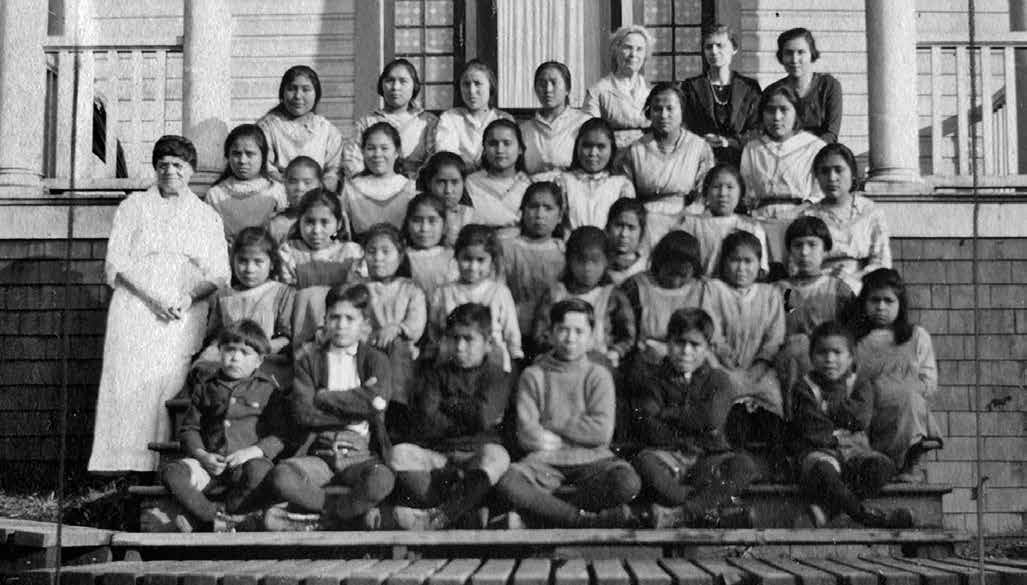 School Days: The Residential School Experience 51 Pupils and staff of the Elizabeth Long Memorial House in Kitimaat, British Columbia, in 1922.