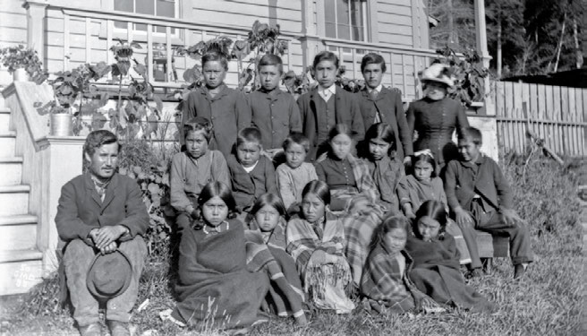 School Days: The Residential School Experience 53 Charlie Nowell ran away from the Alert Bay school in the 1870s after he was beaten by the principal. This photo was taken at the school in 1885.