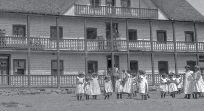 55 Chapter Three Residential Schools in the North and the Arctic The Sacred Heart School at Fort Providence in the Northwest Territories was established in 1867.