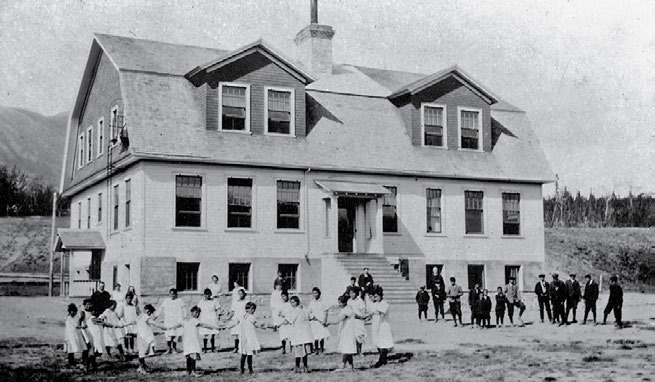 56 Truth & Reconciliation Commission The Choutla school at Carcross in the Yukon was the first government-funded Anglican residential school in the North.