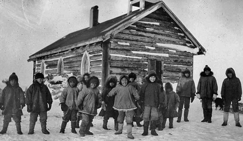Residential Schools in the North and the Arctic 57 Students at the Shingle Point, Yukon, school playing at recess in the 1930s. The General Synod Archives, Anglican Church of Canada, P9901-543.