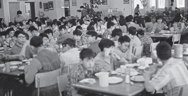 62 Truth & Reconciliation Commission The Stringer Hall dining hall in 1970.
