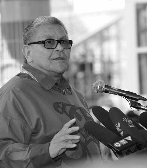 The society supported former students and campaigned for public recognition of the history and impacts of the residential school system. Fred Cattroll.