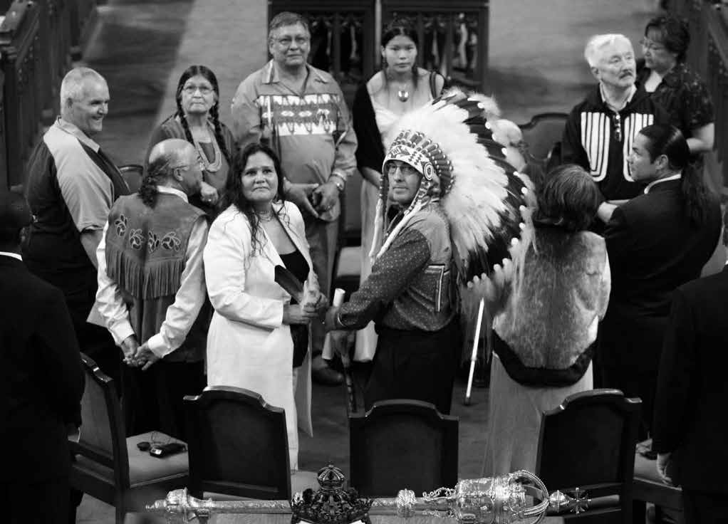 82 Truth & Reconciliation Commission Canada s Aboriginal leaders along with a number of former residential school students were present on the floor of the House of Commons for the 2008 Residential