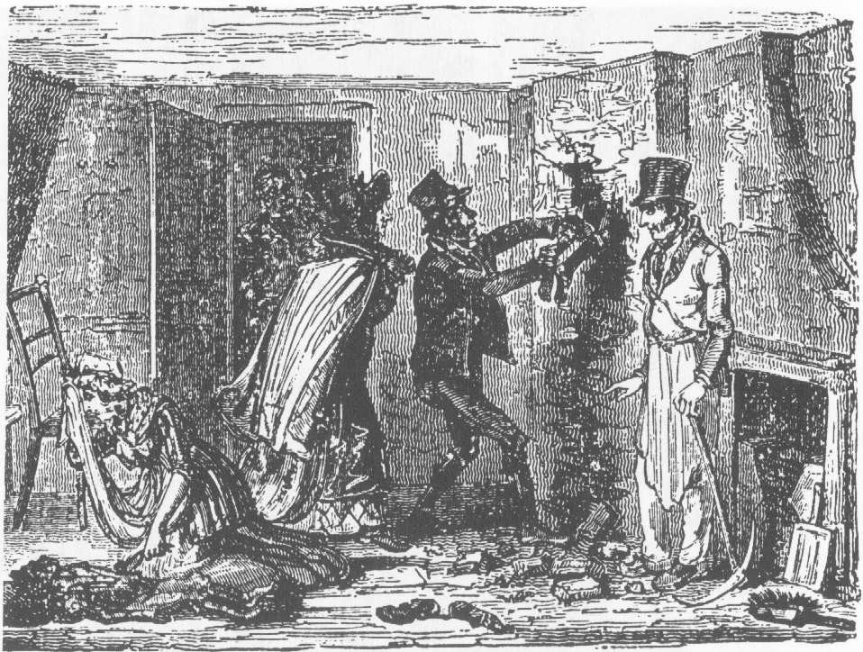The Death of Two Human Brooms Poor White children were a very expendable commodity in Georgian and Victorian England, as this period print of an actual chimney-sweeping accident illustrates.