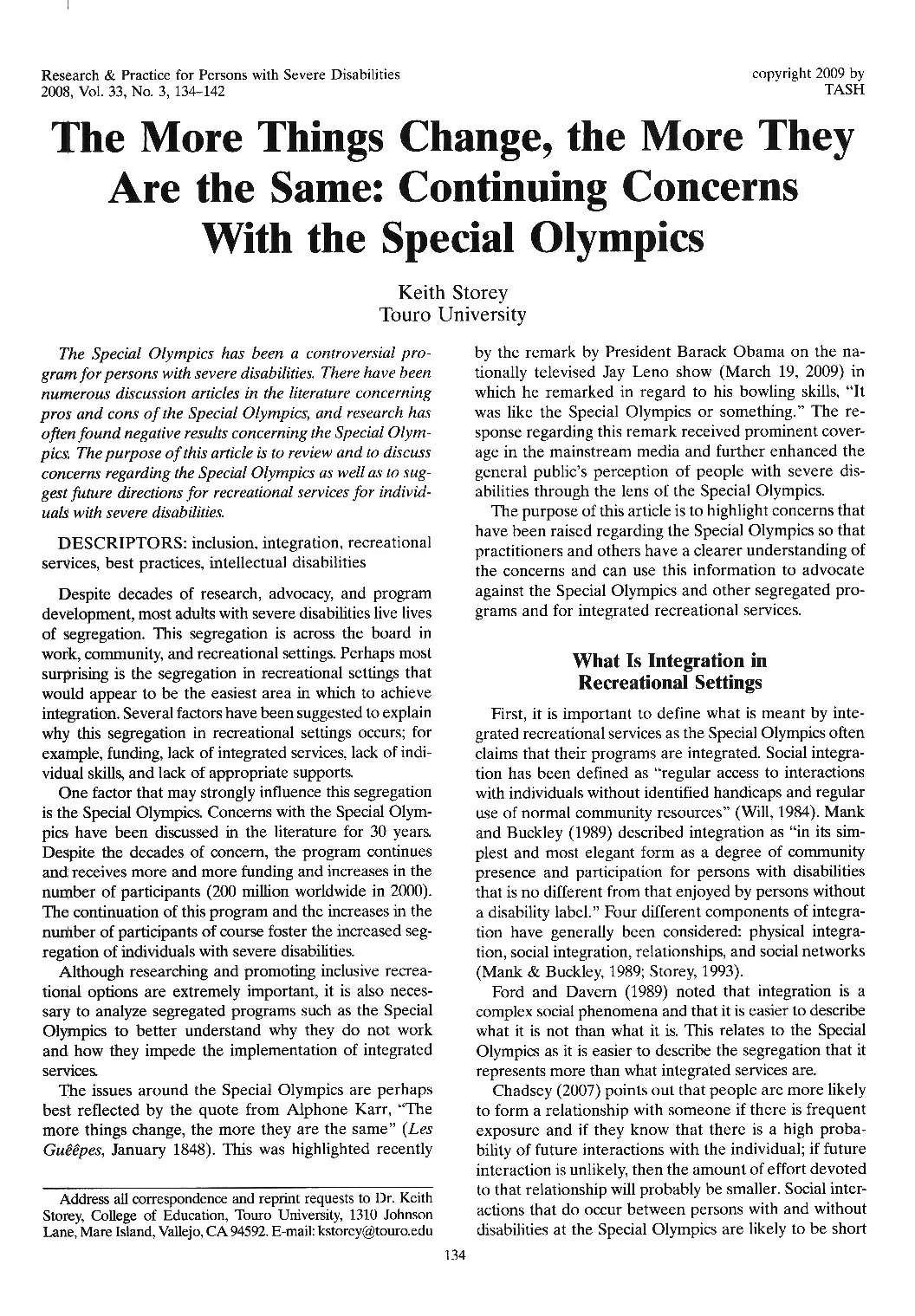 Research & Practice for Persons with Severe Disabilities 2008, Vol. 33, No.