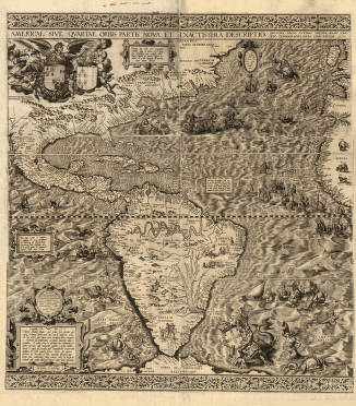 Document 7: The 1562 Map of America by Diego Gutiérrez With three details showing cannibals, giants and a sea monster Document 8: Captain John Smith describes Virginia in his book Historie of