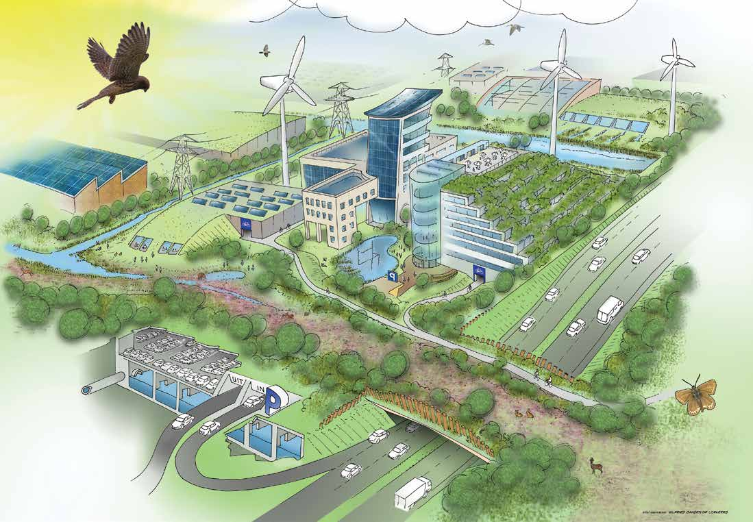 b Developing an industrial area of the future An example on how industries can contribute to developing green infrastructure is the Dutch Industrial area of the future project within the Leaders for