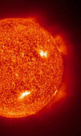 GEE WHIZ! FACTS ABOUT THE SUN 9. The gas in the Sun rotates (or spins) about 10 days faster at its equator than around the poles. 10. The Sun makes up about 99% of the stuff in the whole Solar System*.