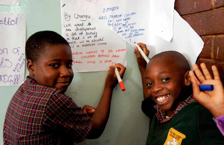 3 A Sustainable Development Agenda Young students in Zambia listing their future aspirations for the Post-2015 Agenda (Photo: Georgina Fekete/UNDP ) This chapter summarizes the main points and
