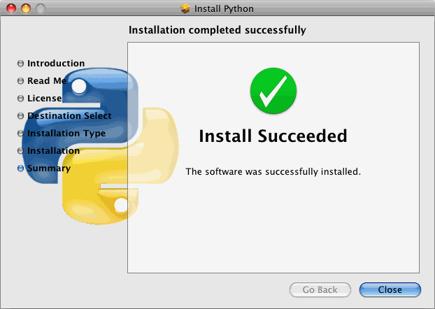 Assuming all went well, the installer will give you a
