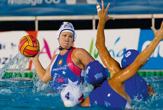 European Water Polo club competitions - Women s Russia v Greece on day 5 of the 2008 European Women s Championships in Malaga. Russia won 9-7 (Photo: Giorgio Scala) 10.