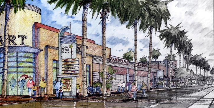 CityPlace Long Beach, California An urban mall revitalization project within the city s core, CityPlace is a 12-acre project with retail, hotel, and housing that breaks up the earlier mall s