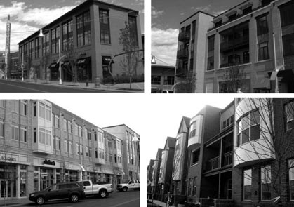 Lesson 7: Establish a High Standard for Urban Design Belmar included a variety of housing types and architectural styles. Courtesy Continuum Partners LLC.