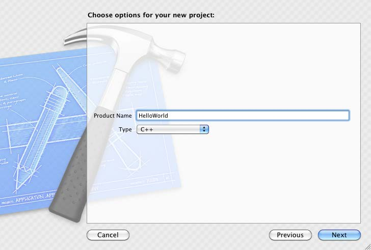 After pressing Next, you will see this screen: I ve already filled it out with a product name, HelloWorld, and I ve
