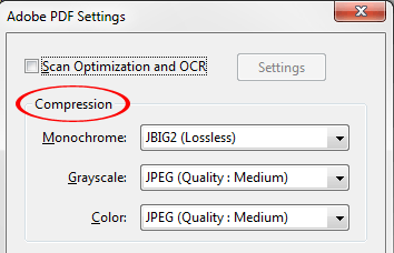 Editing Image Conversion Settings Select TIFF and/or BMP format from a list of supported formats