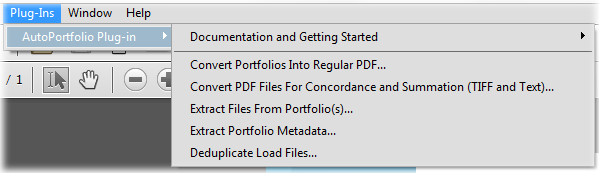 Step 5: Starting AutoPortfolio software Select Plug-ins >