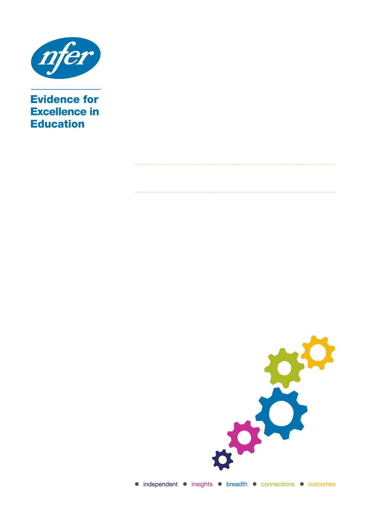 Final report Research into the impact of Project Maths on student achievement, learning and