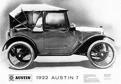 COGNITION & MUSCLE MEMORY ISSUES 1922 Austin Seven The nature of driving a car has not changed since the Austin 7 of the early 1920 s.