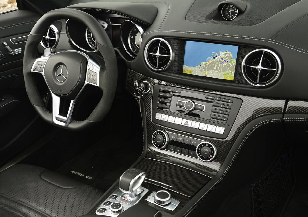 Consider the interior of a Mercedes SL from the 1970s compared with a present day Mercedes SL.