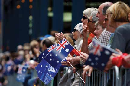 Image courtesy of Department of Veterans Affairs Image F: Anzac Day parade, Sydney, 2009.
