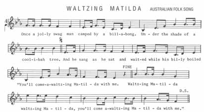 "Waltzing Matilda One of Australia's most popular poets, A.B. Banjo Paterson, wrote the ballad ""Waltzing Matilda"" in 1895. It is the best known Australian song in the world."
