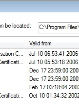 Repeat for each of the certificates that are displayed. Click 'Close' to close this screen.