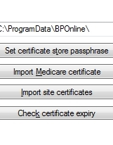 practice s certificate to digitally sign data that is sentt to Medicare.