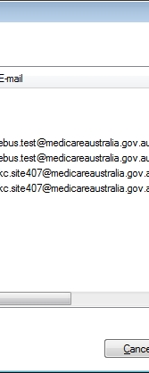 If this testt is successful, you should now configure each of yourr workstations to access the Medicare certificate store (see notes following on performing this step).