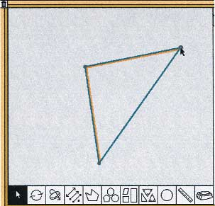 FIGURE 4 Manipulating a category of shape in Math Van Math Van (McGraw-Hill School Division 1997) allows children to draw and manipulate a certain kind, or category, of shape.