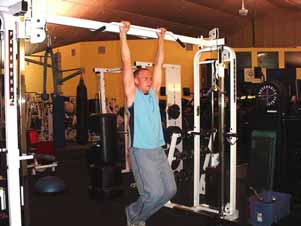 Hanging knee raises These are identical to the hanging leg raises, except that your knees are