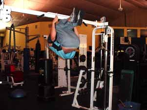 Both hanging leg raises and hanging knee raises can also be done from training rings slung