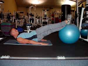 In addition to the abdominal exercises recommended above, I recommend incorporating several general core-strengthening and functional warm-up exercises into your routine such as: Straight leg bridge