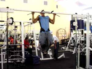 Make sure you go all the way back down to a full hang between each rep instead of the half pull-ups that you see many