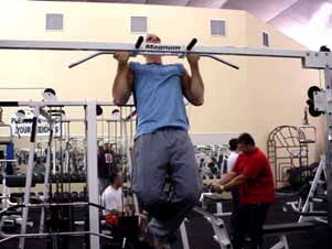 START/FINISH MIDPOINT Supinated grip chin-ups With your palms facing you, take a grip at approximately shoulder width, and