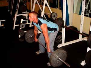 Barbell bent over rows Stand in a bent over position with your back