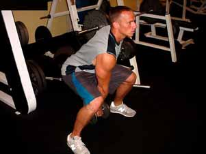 3. One arm swings Begin this exercise with the weight slightly off the floor.