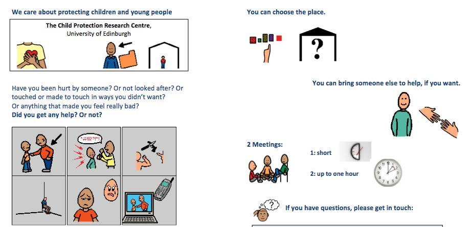Interviews with adults abused in childhood who did not access child protection services as a child or young person.