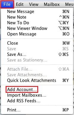 Setting up CatMail on Apple Mail Before beginning this process, make sure that IMAP is enabled in your account and